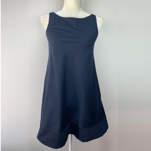 Theory Dacey Dress With Pockets A Line Blue Size 2